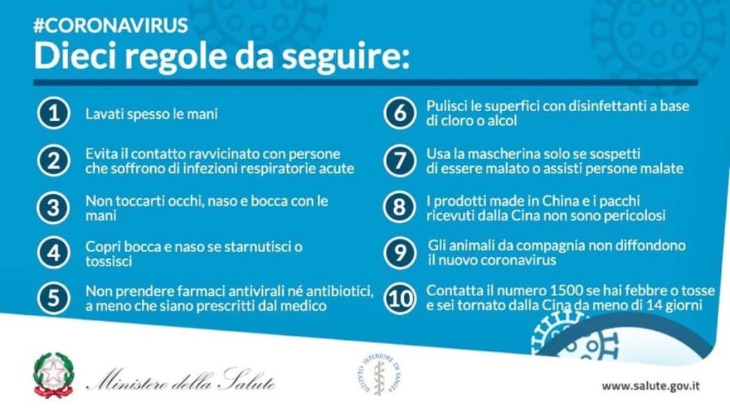 Emergenza coronavirus -FAI LA TUA PARTE