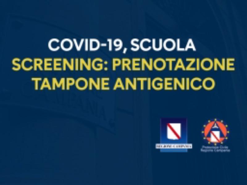 Regione Campania - SCREENING-SCUOLA: PRENOTAZIONE TAMPONE ANTIGENICO. Clicca per saperne di più